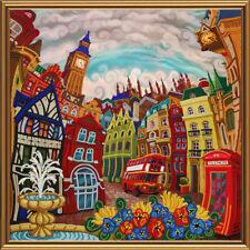 London Stickpackung mit Perlen Stickset Stickvorlage Stickbild 85