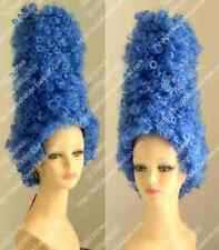Marge Simpson Pantomime Dame Fancy Dress Ladies Tall Blue Beehive Wig