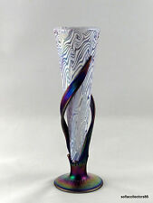 Igor Muller Czech Studio Art Glass Art Nouveau Style Amethyst Wrapped Vase