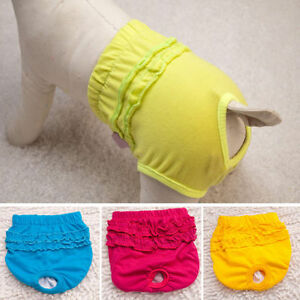Cute Pet Dog Panty Brief Bitch In Season Dog Sanitary Pants For Girl Female Dog
