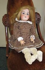 "Armand Marseille 390N A9M Bisque 25"" Sleepy Eye Doll - DRGM 24 8/1 - Compo Body"