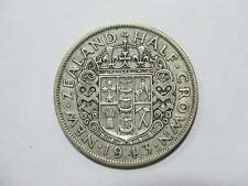 NEW ZEALAND 1943 HALF CROWN KING GEORGE VI LOW GRADE SILVER WORLD COIN 🌈⭐🌈