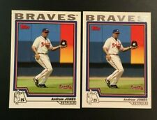 2004 Topps #80 ANDRUW JONES Lot 2 Atlanta Braves