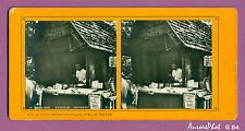 VUE STÉRÉO EXPO UNIVERSELLE 1900 PARIS : LA BOUTIQUE TONKINOISE, VIETNAM -G84