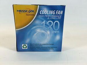 ***Brand New lot of 10 Masscool 120mm High Speed Case Fan FD12038S1H3/4, 2700