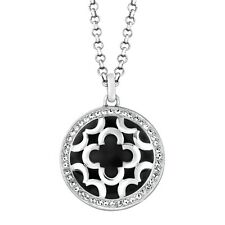 Marie Claire Over sized Clover Medallion Pendant Necklace Swarovski Crystals