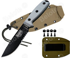 ESEE Model 4 Black Blade Serrated Micarta With Coyote Brown Molded Sheath 4S NEW