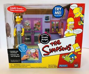 The SIMPSONS WOS KRUSTY BURGER PIMPLY FACED TEEN Interactive Playmates In Box