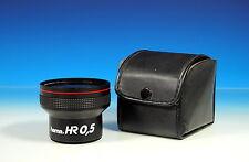 Hama HR 0.5x video lente wide angle lens ø52mm High Resolution Fungus - 101179