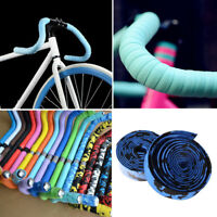 EE_ 2x Bike Cycling Road Bike Sports Bicycle Cork Handlebar Rubber Tape Wrap+2 B
