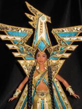 2000 Fantasy Goddess of The Americas Bob Mackie Barbie Doll 25859 Displayed