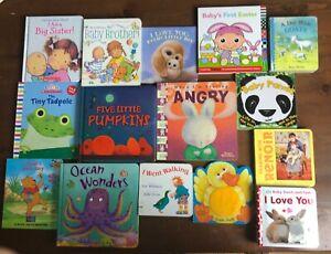 Lot 15 Kids Board books  Big Sister Baby Brother Pumpkins Love Feelings Ocean