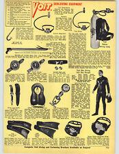1967 PAPER AD Voit Skin Diving Lung Suit Spear Gun Mask Fins Wrist Gauge Scuba