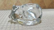 Kirkland's Solid Glass Sleeping Cat Votive Tea Light Candle Holders