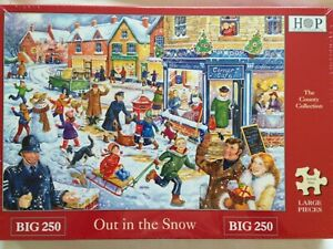 Brand New House of Puzzles BIG250 Large Piece Jigsaw Puzzle - OUT IN THE SNOW