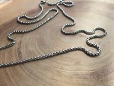 Chain necklace, Chain for man, stainless steel chain, Box chain, men's jewelry