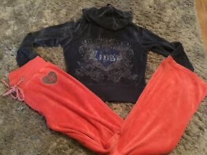 LIPSY,CRYSTAL EMBELLISHED,CONTRAST,PINK/ORANGE BOTTOMS/BLUE JACKET/TOP SZ S/8