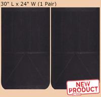 "Extra Heavy Duty Plain Rubber 1//2/"" Mud Flap Set 24/"" x 30/"""