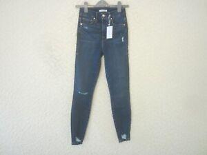 Good American 'Good Waist' Chewed Hem Stretch Denim Jeans