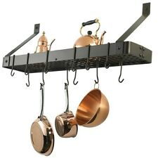 Kitchen Pot Rack Holder Pan Hanging Wall Organizer Storage Cookware Mount Hanger