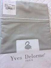 YVES DELORME SERENITY TOURTERE PERCALE KING SUPERKING FLAT SHEET