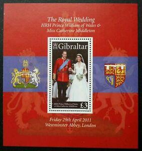 *FREE SHIP Gibraltar Royal Wedding 2011 (miniature sheet) MNH