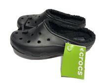 Crocs, Freesail, Plushlined Clogs, Black, Women's Size 9M