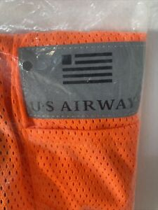 US AIRWAYS American Airlines Safety Vest Large Orange NIP Never Used Vintage