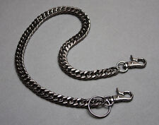 "BLACK CHROME / GUNMETAL 20"" WALLET CHAIN FOR HARLEY DAVIDSON BIKERS ETC."