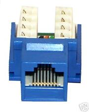 New (50) Cat5e Keystone Jacks 110 Punchdown Blue
