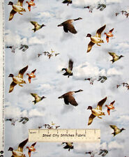 Mountain Woods Ducks Flying Wild Bird Duck Flight SPX Cotton Fabric Three Pieces
