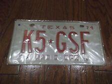 1974 TEXAS RADIO OPERATOR LICENSE PLATE K5 GSF