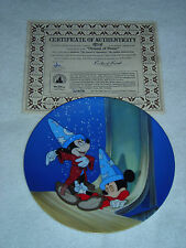 Walt Disney Fantasia Dreams Of Power Plate 50th Anniversary Plate # 9801A