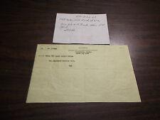 MARCH 1968 B&LE BESSEMER & LAKE ERIE RAILROAD ALBION, PA TELEGRAM TRAIN ORDER #2