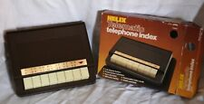 Retro Helix Desk Gadget Vintage Telematic Telephone Index 70s Brown Unused Boxed