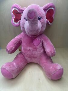 Build a Bear Tons of Love Pink Elephant Heart Chest Plush