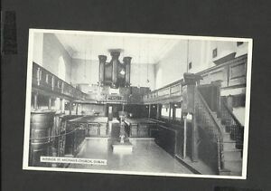 Vintage Black/White Postcard Interior St. Michan's Church Dublin unposted