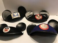 Lot of 4 Mickey Mouse Club Disney channel 25th anniversary Hat Ears  RARE Vtg