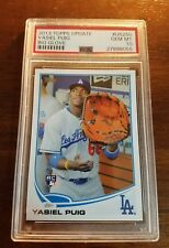 2013 Topps Update Yasiel Puig Big Glove Rookie Card #US250 PSA 10 Gem Mint