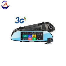7'' 3G 1080P Car DVR GPS Android 5.0 Car Rear View Mirror Monitor Reverse Camera