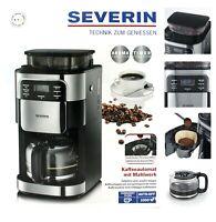 Kaffeeautomat Severin KA 9943 Kaffeemaschine mit Mahlwerk Filterkaffeemasche