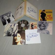 Madonna Erotica Limited Wooden Box CD/Mini Single CD/Cards/Stickers sex madame x