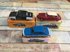 Voiture Miniature Lot de 3 Dinky Toys Atlas Citroen Ford Renault au 1/43
