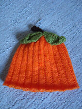 Hand Knitted Pumpkin Hat - fits age 6 months to 2 years approx