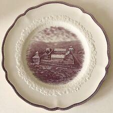 Vintage 1933 Chicago World's Fair MARSHALL FIELD Plate Fort Dearborn Johnson Bro