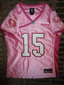 Michael Crabtree #15 San Francisco 49ers NFL Pink Reebok Jersey Womens M Med