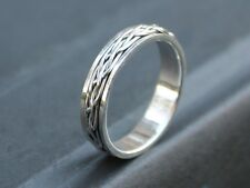 Mens Ladies 925 Sterling silver Celtic Spinner ring 5mm band Gift for him or her