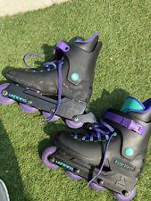 Vintage Rollerblade Lightning Inline Aggressive Skates Black/Purple Sz 7 - EU 41