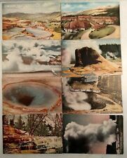 YELLOWSTONE NATIONAL PARK Lot of 8 DIVIDED BACK DB POSTCARDS HHT CO. VTG WY PC