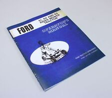 FORD 51 60 65 RIDER MOWER TRACTOR OWNERS OPERATORS MANUAL GAS RIDING LAWN GARDEN